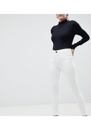 ASOS DESIGN Petite Ridley high waisted skinny jeans in optic white