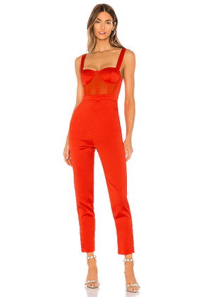 NBD Kailynn Jumpsuit in Red. Size XS,S,M,XL.