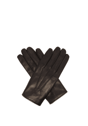 Dolce & Gabbana - Cashmere-lined Leather Gloves - Mens - Black