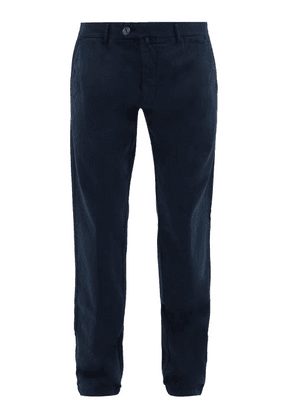 J.w. Brine - James Cotton-blend Chinos - Mens - Navy