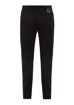 Givenchy - Logo-tab Cotton-blend Chino Trousers - Mens - Black