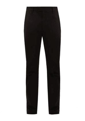 Bottega Veneta - Straight-leg Cotton Chino Trousers - Mens - Black