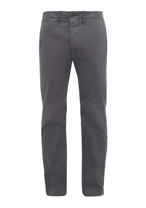 Rrl - Officer's Wide-fit Cotton Chino Trousers - Mens - Navy