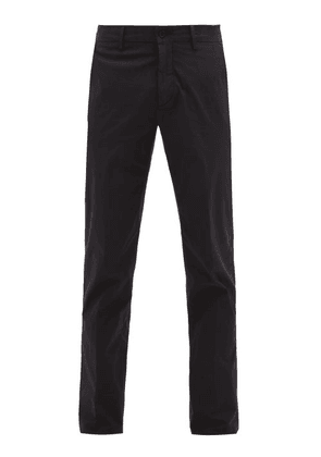 Dunhill - Slim-fit Stretch-cotton Chinos - Mens - Navy