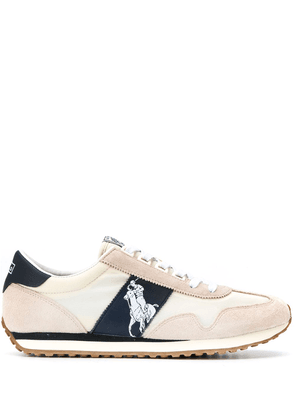 Leather Polo Logo Sneakers