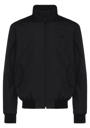 Fred Perry Harrington embroidered logo bomber jacket - Black