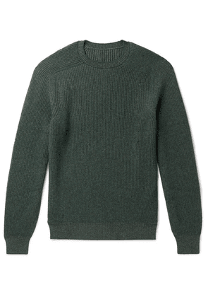 Sease - Dinghy Reversible Ribbed Cashmere Sweater - Green