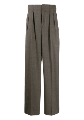 Maison Kitsuné pleated trousers - Brown