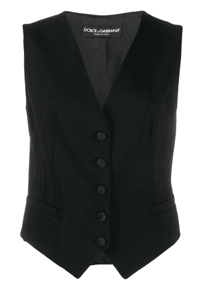 Dolce & Gabbana fitted single-breasted gilet - Black