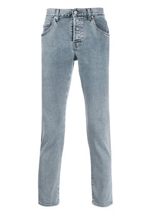 Gucci stripe detail slim-fit jeans - Blue