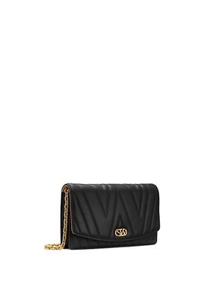 Stuart Weitzman - The Emelie Quilted Shoulder Bag In Black - Size One Size