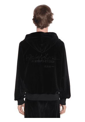 Logo Embroidered Cotton Chenille Hoodie