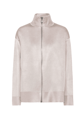 Wool and silk jersey jacket