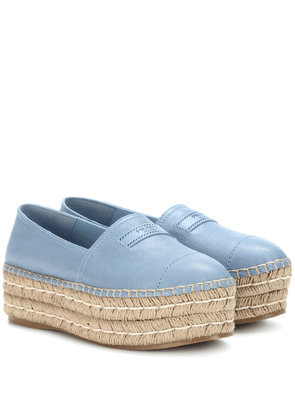 Platform leather espadrilles