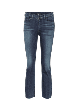 W2 cropped mid-rise bootcut jeans
