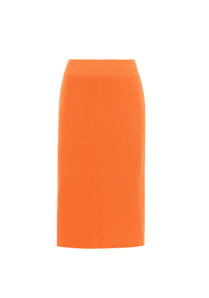 Knitted cotton skirt