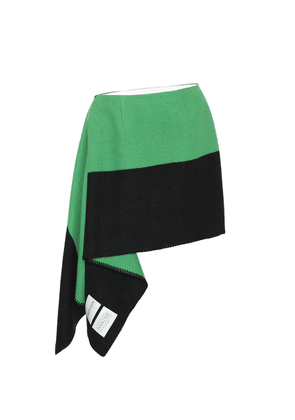 Wool and cotton skirt