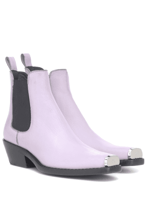 Western Claire leather ankle boots