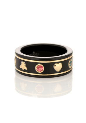 Icon 18kt gold ring with gemstones