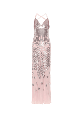 Starlet sequined chiffon gown