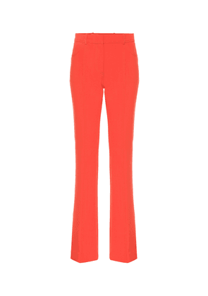 Exclusive to Mytheresa – mid-rise flared wool-blend pants