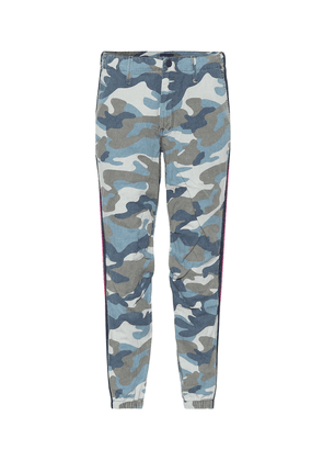 Mid-rise camouflage pants