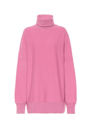 Oversized logo cotton sweater