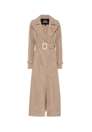 Contrast Stitching trench coat