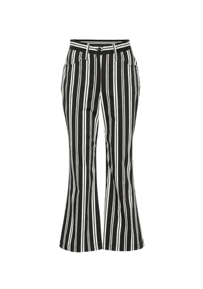 Striped high-waisted cropped pants