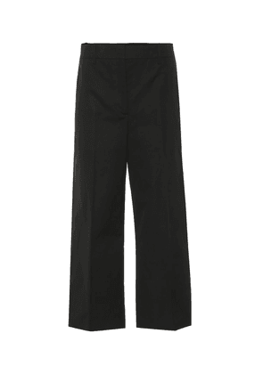 Cropped high-rise cotton pants