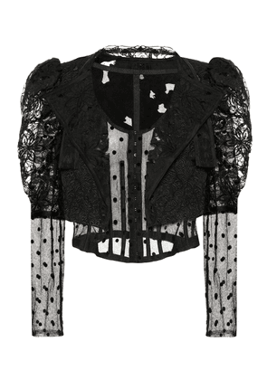 Cotton and silk lace jacket