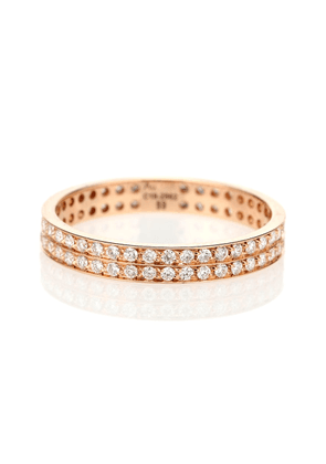 Berbere 18-kt rose gold ring with diamonds