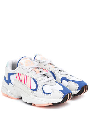 Yung-1 leather and mesh sneakers