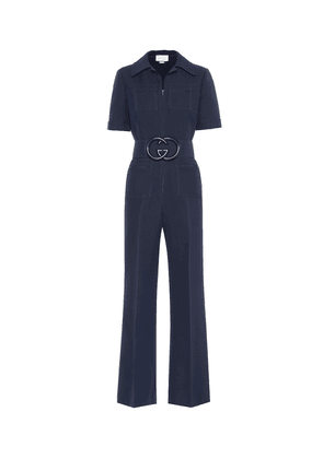 Wool and silk jumpsuit