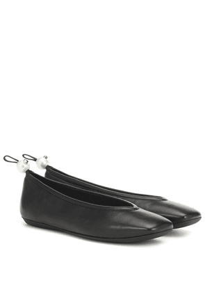 Delfi leather ballet flats