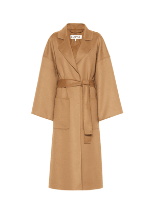 Cashmere and wool oversized coat