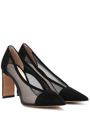 Yasmin mesh and suede pumps