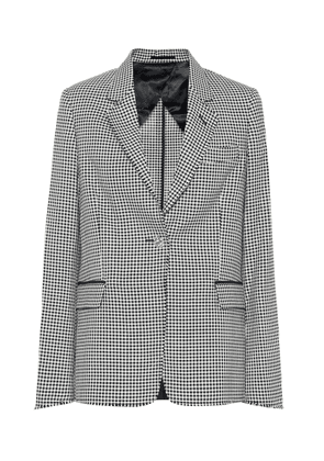 Checked wool and cotton blazer
