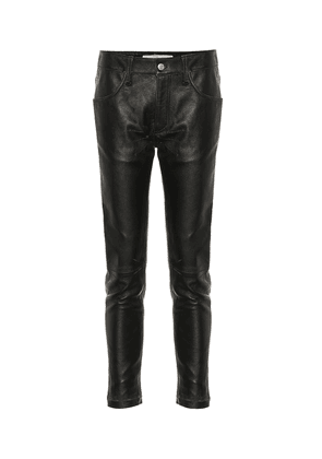 Jolly mid-rise leather pants