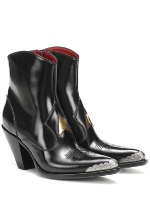 Nora leather cowboy boots