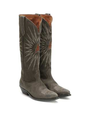 Wish Star suede knee-high boots