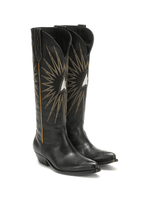 Wish Star leather knee-high boots