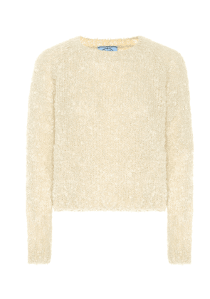 Mohair, cashmere and silk sweater