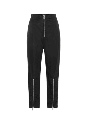 High-rise straight zip-front pants