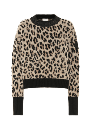 Leopard wool and cashmere sweater