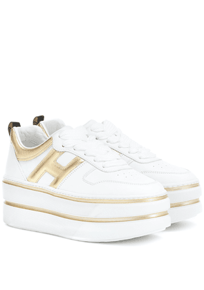 H449 leather platform sneakers