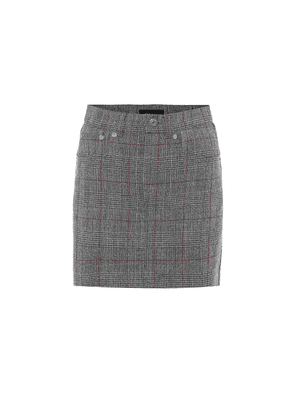 Prince of Wales checked wool skirt