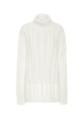 Cable Bareback wool-blend sweater