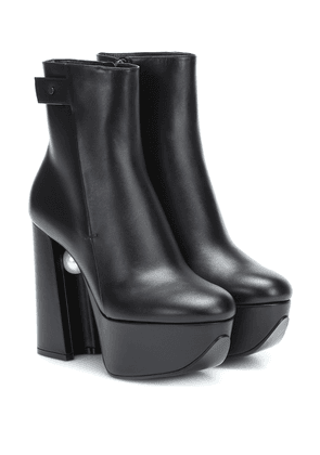 Miri platform leather ankle boots