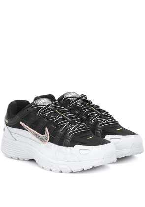 P-6000 SE mesh and leather sneakers